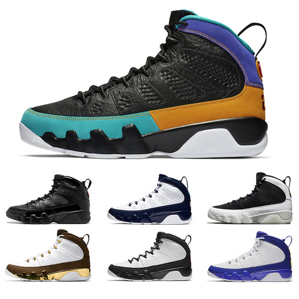 New 9 Men Basketball Shoes 9s Dream It Do It UNC Bred Space Jam Mop Melo Mens Athletic Sports Sneakers Cheap Size 41-47