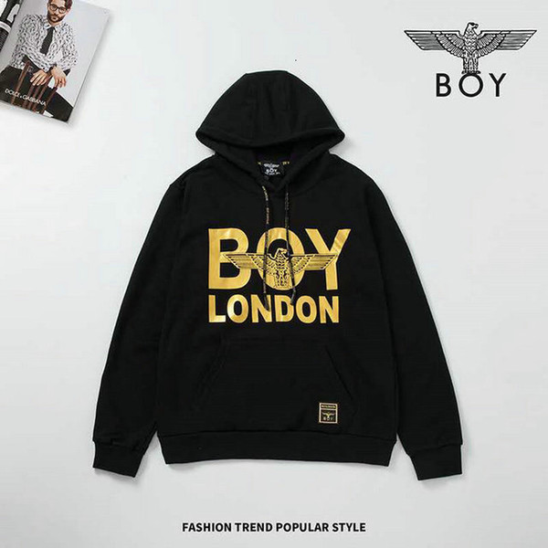 fe33 Outono E Inverno 2019 New Modle Masculino hoodies camisolas de manga Pure Color Leisure Time desgaste dos homens Brasão solta 0722