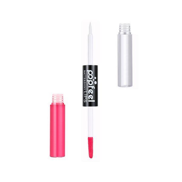 Factory Original 12 Color Matte Lipstick Moisturizer Long Lasting No Fading Double Head Lip Gloss Waterproof Fashion Lip Stick Free Shipping