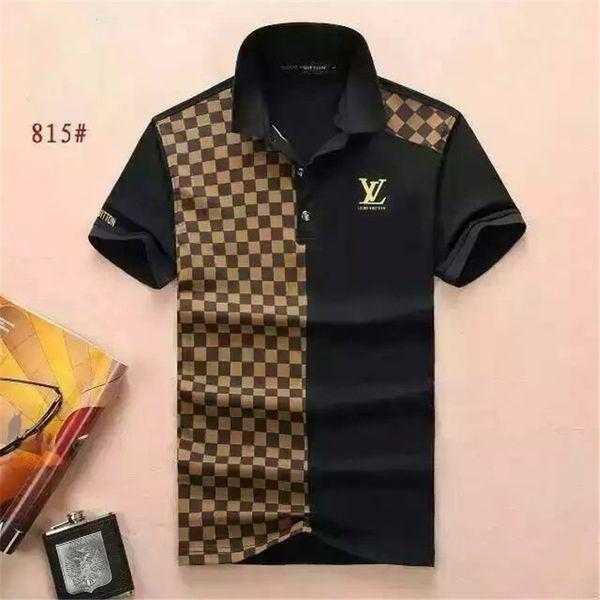 Новый 2018 Оптовая одежда Мужская G футболки полный экран тигр печати хип-хоп одежда мужские дизайнерские рубашки плюс размер синий хаки 815