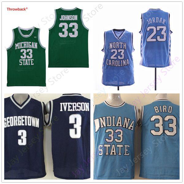 top popular NCAA College Basketball Jersey ISU Bird Michigan State Georgetown Home Away 2020