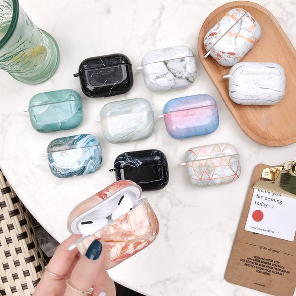 2019 Anti Knock Marble Soft TPU Protective Case For Airpods