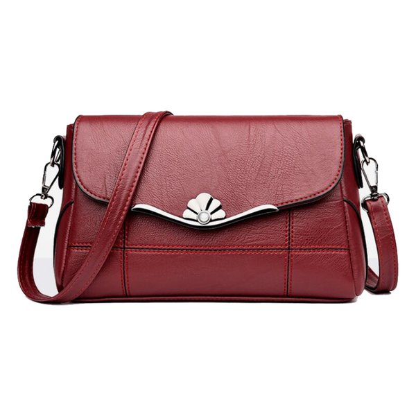 Borsa a tracolla del progettista delle borse delle donne Borsa a tracolla di cuoio dell'unità di elaborazione della borsa e della borsa di modo per le donne 2019 Nuovo Blackred