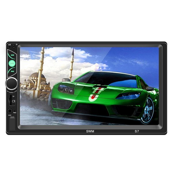 car dvd New 7-inch Three-Screen With Car MP5/MP4/MP3 Player Card Radio Bluetooth Phone For Android /iPhone Internet Auto audio Player