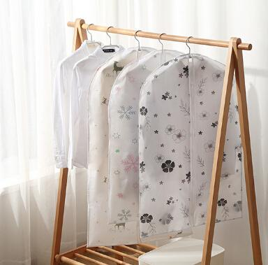 Clothing Dust-proof Cover Overcoat Suit Storage Bag Animal Hot Air Balloon Snowflake Pattern Wardrobe Hanging Bags