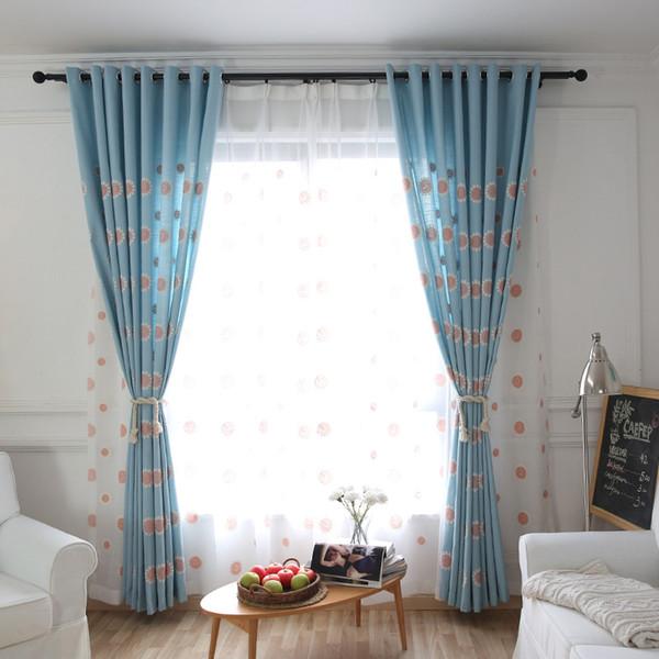 Moderno simples lazer fresco crianças bordados cortinas para sala de estar sala de jantar.