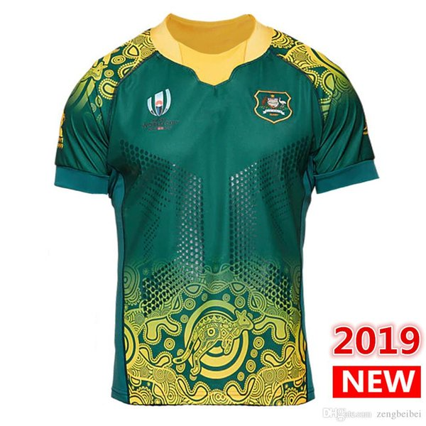 Custom name and number 2019 Japan World Cup AUSTRALIA HOME rugby Jerseys Rugby League shirt wallabies JERSEY shirts big size s-5xl