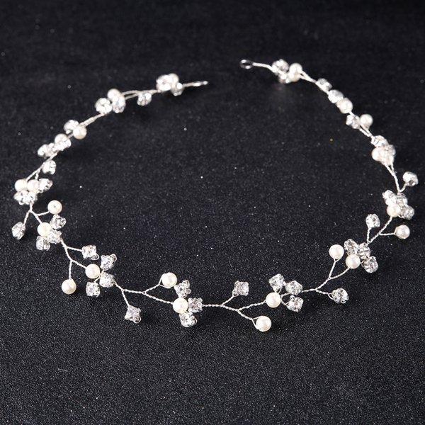 Joyería nupcial de la boda diadema diadema de pelo hechas a mano de cristal casco joyería de la guirnalda de novia para las mujeres accesorios nupciales del pelo