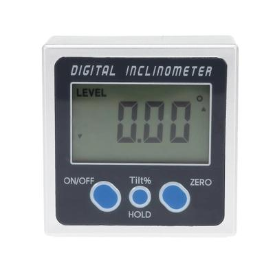 Electronic Aluminum Alloy Protractor Digital Inclinometer 360 Degrees LCD Bevel Box Level Measuring Tool Angle Gauge Meter