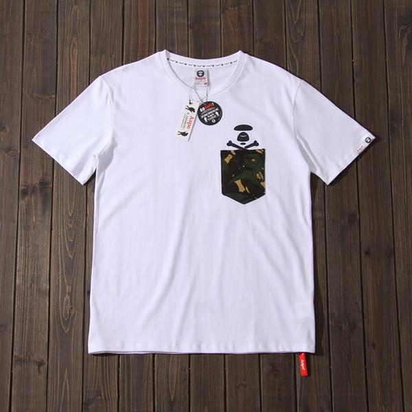 Aape short-sleeved T-shirt men and women loose cotton 2019 new summer sports casual shirt head bale half sleeve