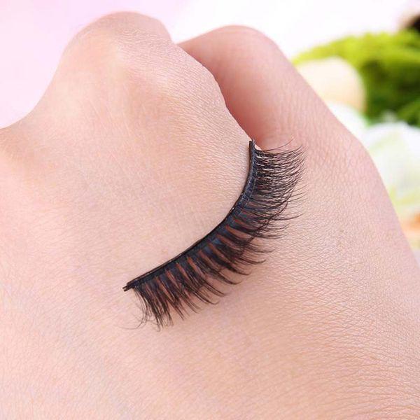 1 Pair 3D False Eyelashes Self Adhesive Natural Fake Eye Lashes Extension for Party Eyes Makeup Tool OA66