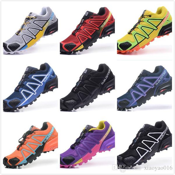 2019 Solomon Speed Cross 4 IV CS Trail Running Shoes For Men Black Red Blue Outdoor Hiking Athletic Sports Sneakers Size 40 47 Baby Running Shoes