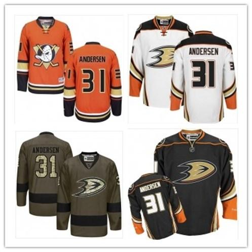 2019 Custom Any Name Number Anaheim Hockey Jersey Green 31 Frederik Andersen Jersey Men / WOMEN / YOUTH Duck Game Worn Hockey Jersey Shirt