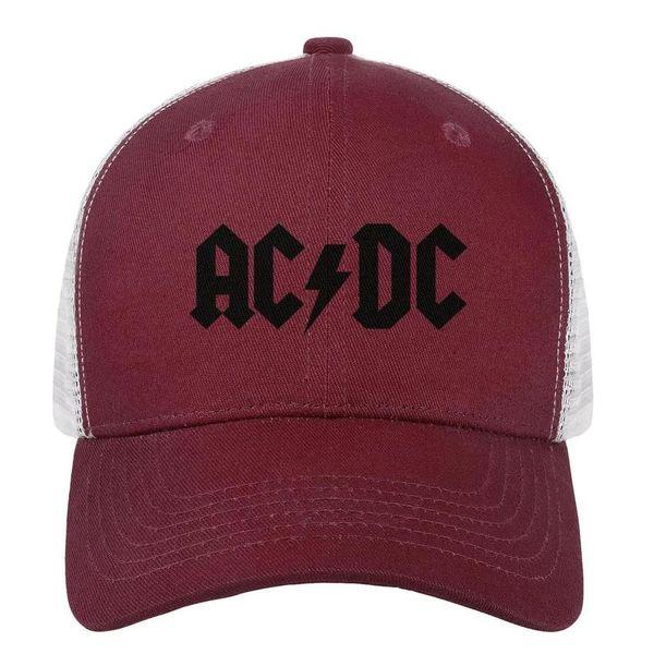 AC-2018-DC-Albums-logo бордовый для мужчин и женщин кепка для водителя грузовика с бейсбольным дизайном.