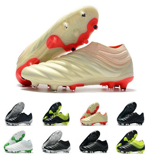 eaa48b06a7f With Bag Box Mens Copa 19+ FG Soccer Shoes for Men s Cleats Football Boots  Male Slip on Chaussures Men Outdoor Shoe Boys Teenage
