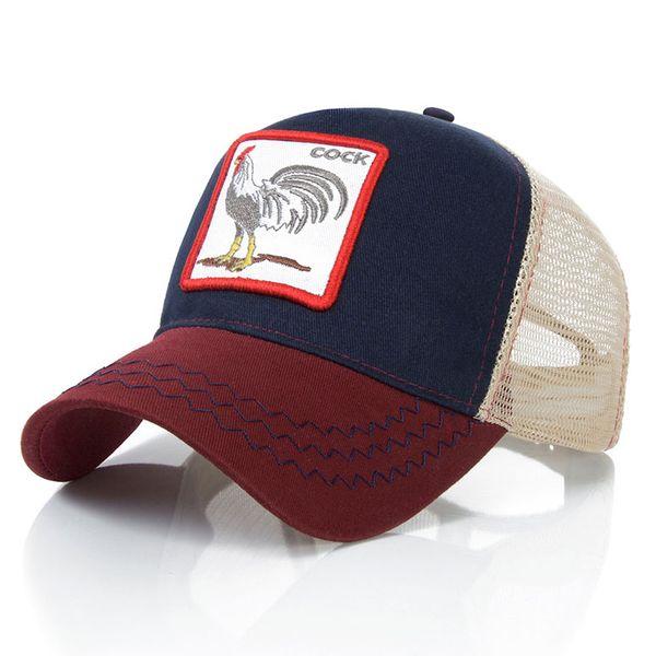 Mesh Snapback Caps Tiere Stickerei Baseball Caps Männer Frauen Snapback Hip Hop Hut Sommer Atmungsaktives Mesh Sun Gorras Unisex
