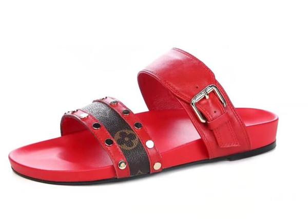 19SS latest hot L women fashion causal slippers boys &girls tian/blooms print flower slide sandals unisex outdoor beach flip flops