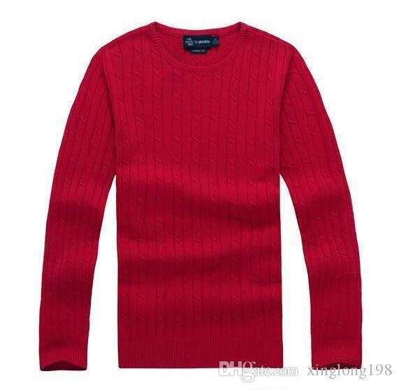 2019 новое высокое качество мили заманивать поло бренд мужской твист вязать свитер хлопка свитер джемпер свитер свитер Малый лошадь игра