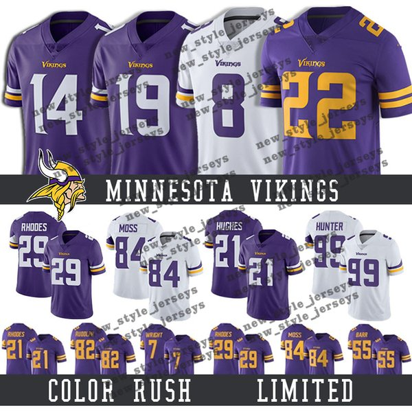 huge selection of 8ee4f b74d5 2019 22 Harrison Smith Minnesota 14 Stefon Diggs Vikings Jersey 8 Kirk  Cousins 19 Adam Thielen 55 Anthony Barr 99 DANIELLE HUNTER Football Jersey  From ...