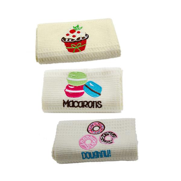 3pcs 48*68cm Cotton Napkin Kitchen Tea Towels Curtain Dust Cover Meal Cloth Clean Square Cloth Pad
