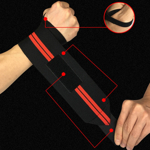 Gym Sports Fitness Adjustable Wrist Strap Elastic Wrist Wrap Weightlifting Bandage Strength Training Breathable Support #286040