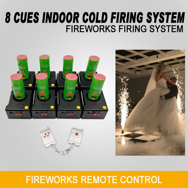 Liuyang Happiness 8 Cues Wedding Electric Cold Sparklers Wireless Fireworks Firing System Remote Machine