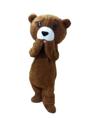 Venta caliente 2019 traje tedy adulto de piel oso de peluche mascota traje envío gratis