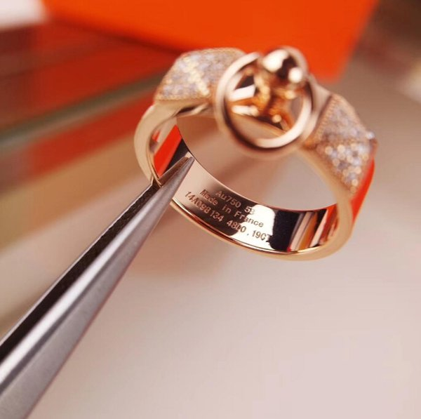 مصمم خاتم فضة 925 خاتم برشام مطلي بالذهب مصمم H عصابة النساء مأدبة العلامة التجارية المجوهرات هدية عيد الحب
