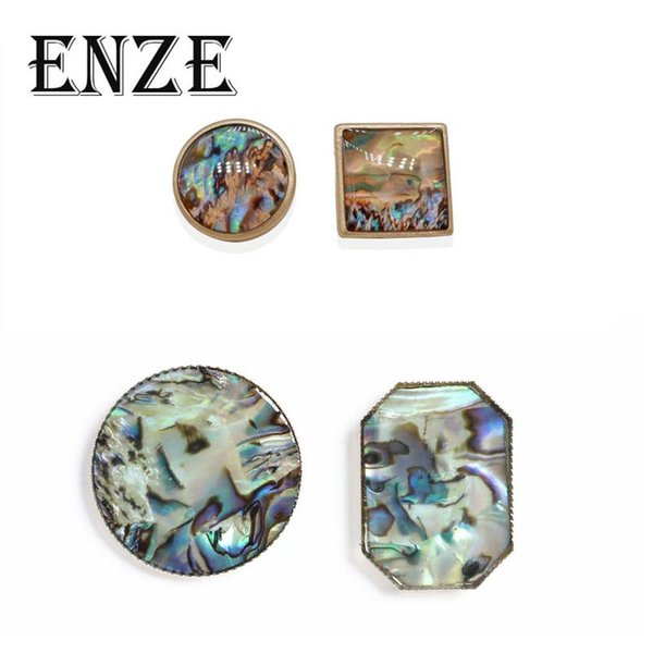 ENZE fashion ladies jewelry accesorios de estilo europeo y americano al por mayor shell pendientes grandes para las mujeres Retro
