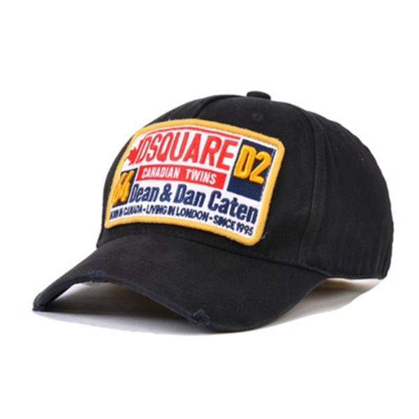 Spor DSQRED Marka Casquette Şapkalar Katı Desen Şapkalar Mektuplar SIMGE Casquette Baba Hip Hop Beyzbol Şapkası Snapbacks Ayarlanabilir Kap