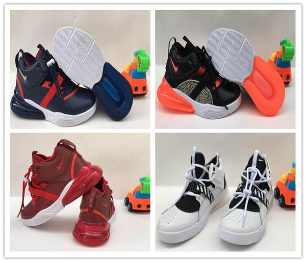 Nike Air Force 270 youth Running Shoes kid Sneakers air 27c run out door Sports shoe 270s Trainer Air Cushion Surface size 28-35