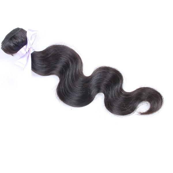 Onda do corpo cabelo indiano do Virgin não transformados Raw Natural Hair Weave Duplo trama Cabelo ondulado Bundle Cor Natural pode ser tingido