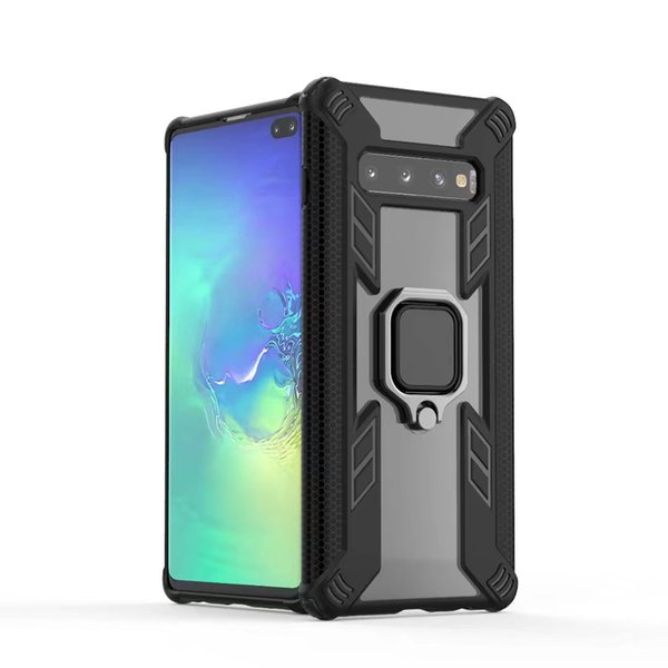 Armor Bumper Case For Samsung Galaxy Note 10 Pro S10 Plus S10E M30 M20 A50 A30 A7 A9 Case Ring Holder Silicone Clear Case