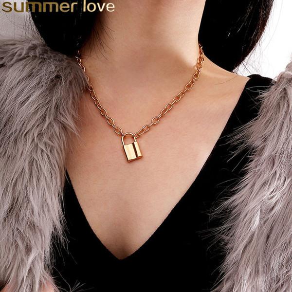 Collana pendente vintage a forma di ciondolo a forma di quadrato per uomo e donna, oro e argento, colore amante, girocollo, clavicola, collane, gioielli, regali