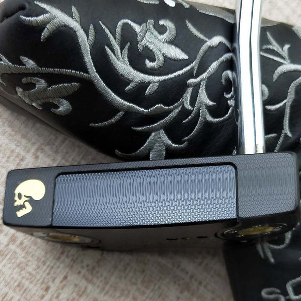 Men's Golf Club 18 Fast Back Black Golden Skull Push 32/33/34/35/36 Steel Rod with Rod Sleeve Free of Freight