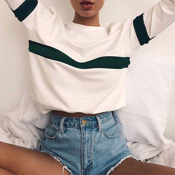 top popular Fashion Harajuku Graphic Tees Women Long Sleeve T Shirt Womens Printed T-shirt Female Shirts Tee Tops Casual T-shirts 2021
