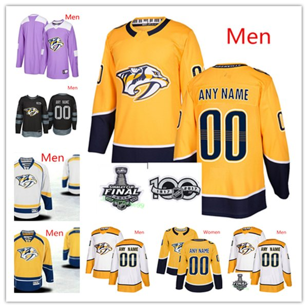 best website 98766 95738 2019 Custom Nashville Predators Ryan Ellis Colton Sissons Nick Bonino Craig  Smith Viktor Arvidsson Mike Fisher Mikael Granlund Hockey Jerseys From ...