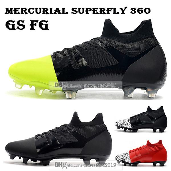 Новые Мужские Высокие Топы Футбольные Бутсы Mercurial Superfly 360 GS FG Футбольные Бутсы Mercurial Greenspeed GS360 Elite FG ACC Открытый Футбольные Бутсы