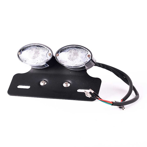 28 LED Motorcycle Turn Signal Brake License Plate Integrated Tail Light 12V For Quad ATV