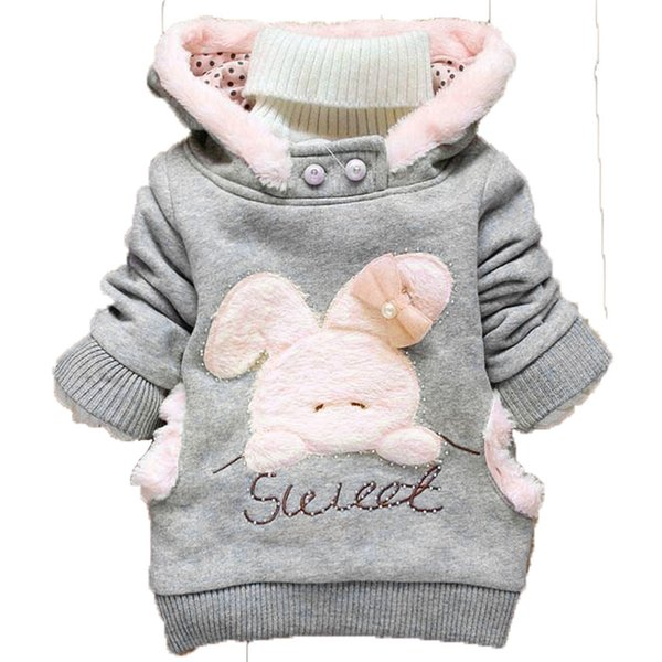 modis Spring Autumn Kids Hoodies Coats Boys Sweatshirts Sport baby girl clothes Rabbit Hoodies Childrens Girls Outerwear