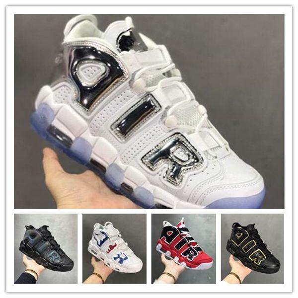 2019 orijinal erkek daha uptempo basketbol ayakkabı yeni Pippen chaussure homme uptempo spor Atletik sneakers eğitmenler artı boyutu 40-47