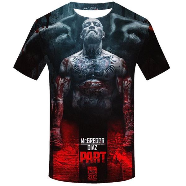 La más nueva moda Cool Star Khabib Nurmagomedov camiseta impresa en 3D / hombre de manga corta de verano Unisex camiseta Casual Tops camiseta 3D K637