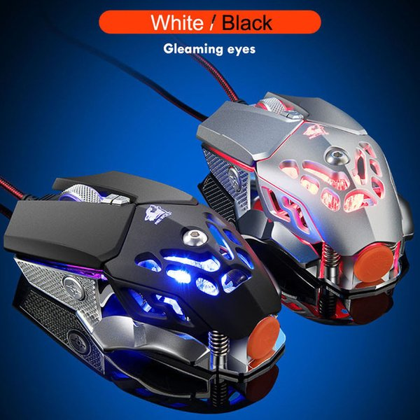 EPULA 2019 Fashion Wired Office Spielmaus V9 2400DPI LED Wired Mechanic Backlight Gaming Mouse 6 Tasten Makro ProgrammierungYE3.14