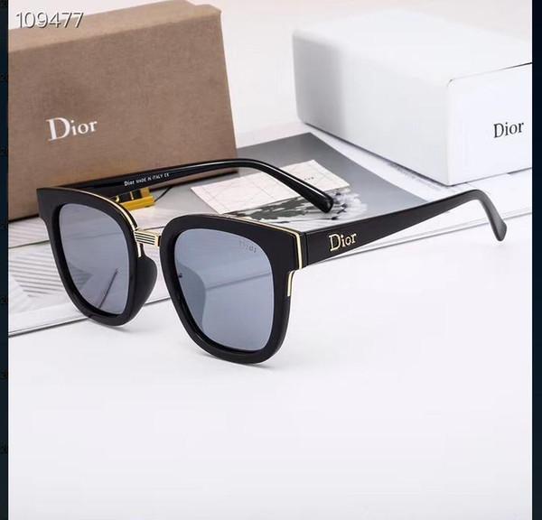 Occhiali da sole da uomo e da donna di lusso e ricchi, occhiali da sole a 5 colori di alta qualità con logo e custodie full frame, spedizione gratuita