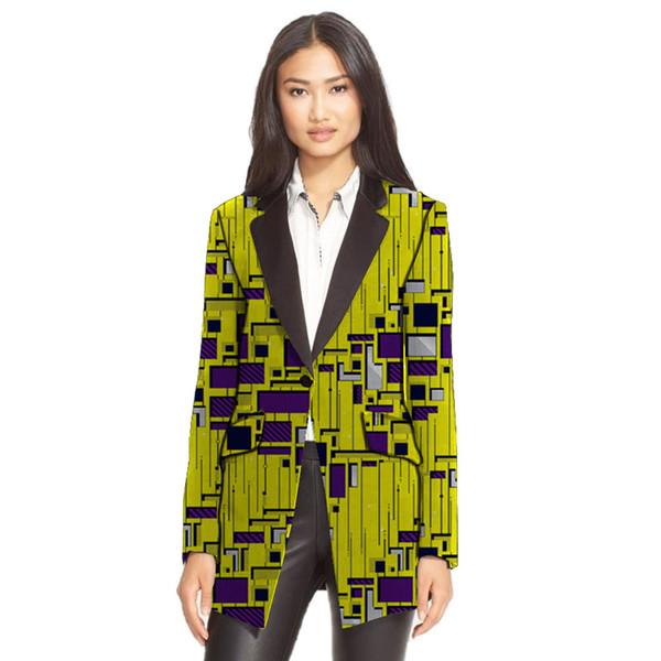 Vêtements africains imprimés longs blazers design décontracté tenue féminine modèle dashiki pardessus vêtements africains dashiki