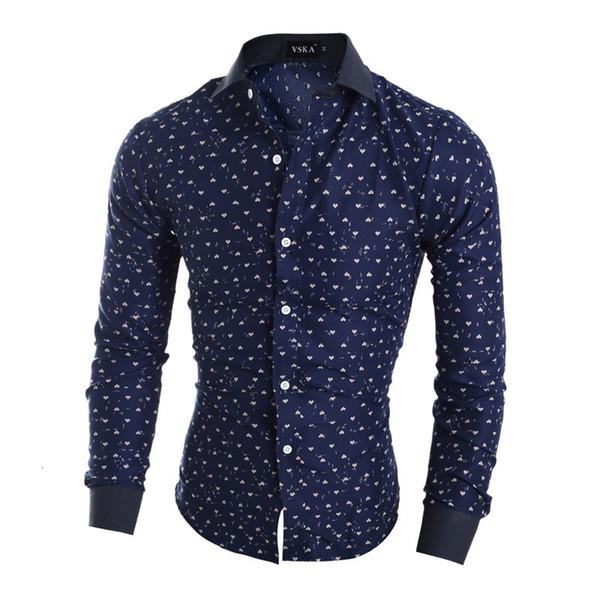 de l'Ouest hommes d'impression élégant occasionnels chemises garçons de mode de style américain slim fit vêtements plein de manches Livraison gratuite