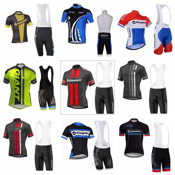GIGANTE equipe Ciclismo Mangas Curtas jersey bib shorts conjuntos de verão confortável wearable dos homens ao ar livre esportes Jersey terno S6117