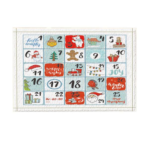 Tapetes De Banho De Natal, Cartão De Alfabetização Das Crianças, Non-Slip Doormatalho Piso Entradas Interior Da Porta Da Frente Tapete