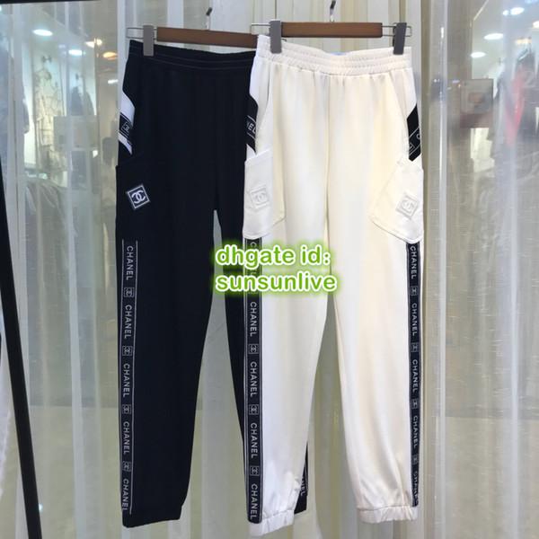 Mulheres Soltas Calças De Jogging Milan Girls Casual Calças Calças de Cintura Elástica Descontraído O Top Feminino Runway Calças Esportivas Esporte