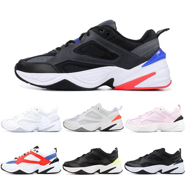 separation shoes 32315 2b42f Air Monarch M2K Tekno Dad Maxes Running Shoes Black Volt John Elliott Paris  Phantom Pink White